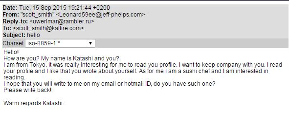 The Big Business of Spam  Online Dating Requests Through Email