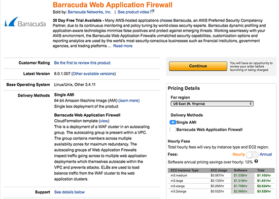 Barracuda Web Application Firewall now works with the AWS